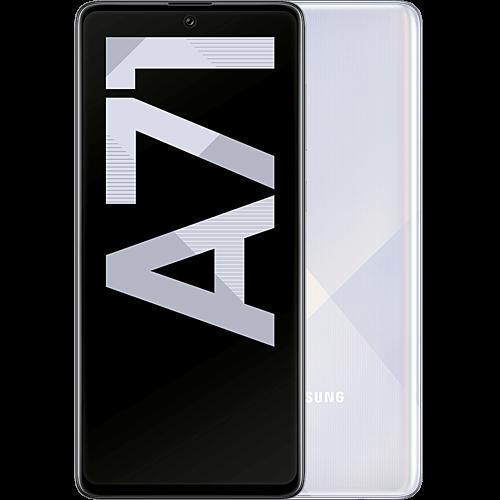 Samsung Galaxy A71 Prism Crush Silver Vorne und Hinten