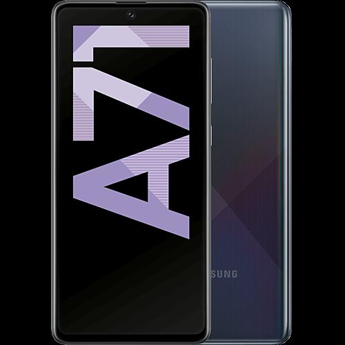 Samsung Galaxy A71 Prism Crush Black Vorne und Hinten