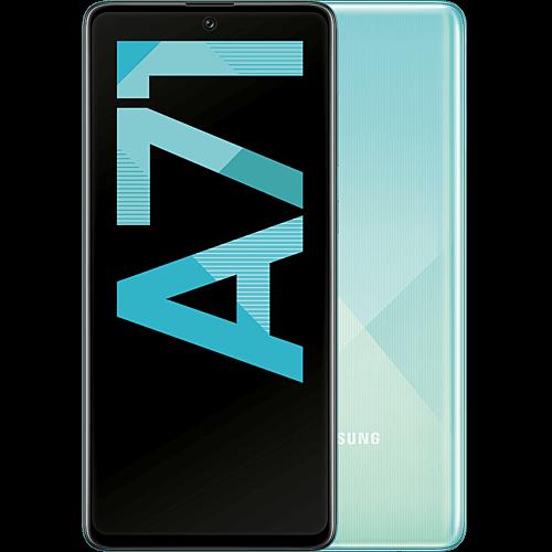 Samsung Galaxy A71 Prism Crush Blue Vorne und Hinten