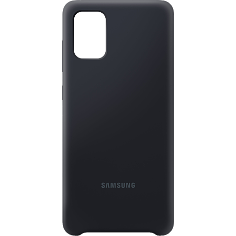 Samsung Silicone Cover Galaxy A71 - Schwarz 99930310 vorne