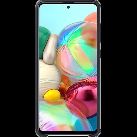 Samsung Silicone Cover Galaxy A71 - Schwarz 99930310 hinten