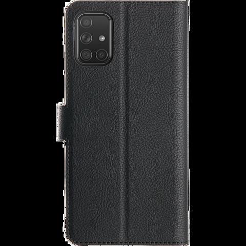 xqisit Slim Wallet Selection Samsung Galaxy A71 - Schwarz 99930317 hinten