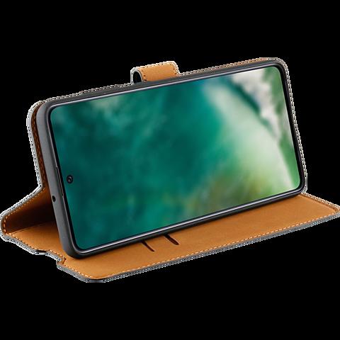 xqisit Slim Wallet Selection Samsung Galaxy A71 - Schwarz 99930317 seitlich