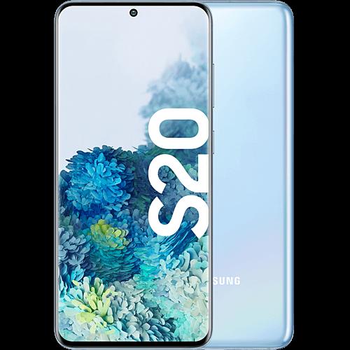Samsung Galaxy S20 Cloud Blue Vorne und Hinten