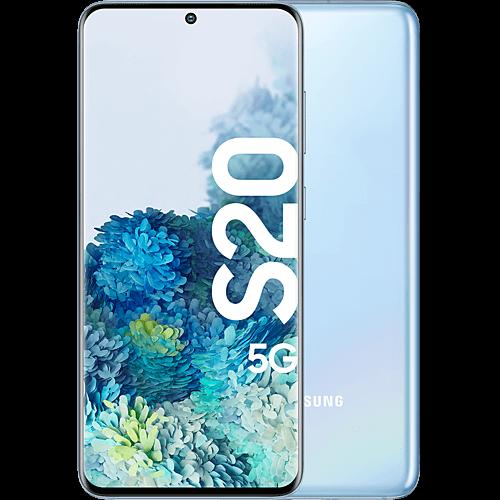 Samsung Galaxy S20 5G Cloud Blue Vorne und Hinten