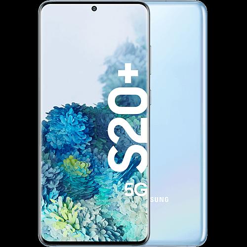 Samsung Galaxy S20+ 5G Cloud Blue Vorne und Hinten