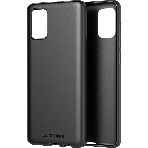 Tech21 Studio Colour Hülle Samsung Galaxy A71 - Schwarz 99930475 seitlich