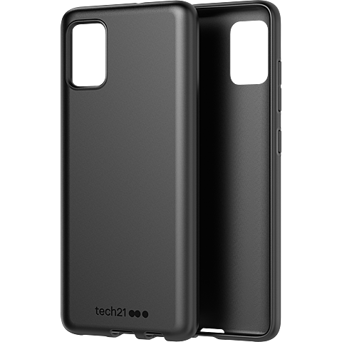 Tech21 Studio Colour Hülle Samsung Galaxy A51 - Schwarz 99930501 seitlich