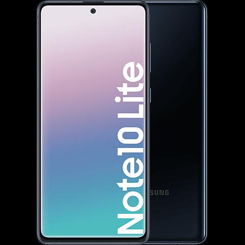 Samsung Galaxy Note10 Lite Aura Black Vorne und Hinten
