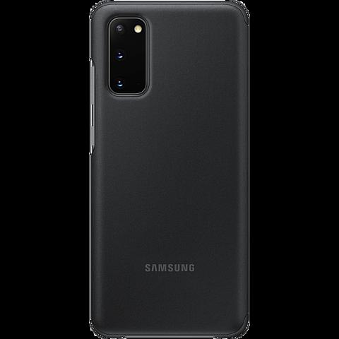 Samsung Clear View Cover Galaxy S20 - Schwarz 99930435 hinten