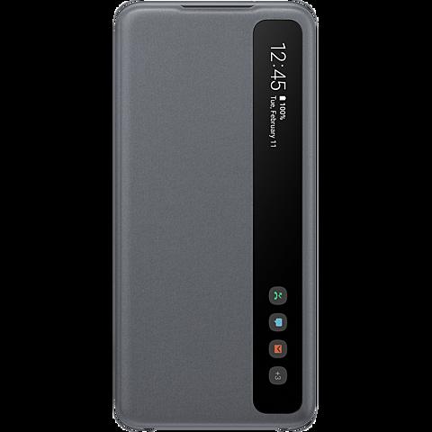 Samsung Clear View Cover Galaxy S20 - Grau 99930456 vorne
