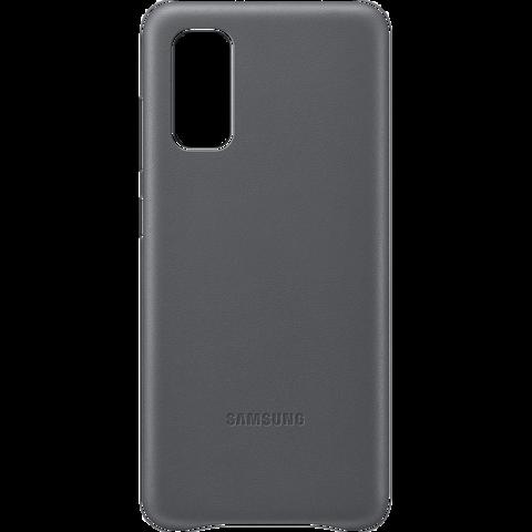 Samsung Leder Cover Galaxy S20 - Grau 99930458 vorne
