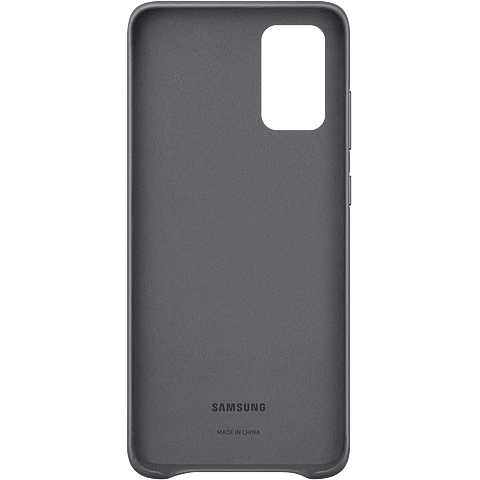 Samsung Leder Cover Galaxy S20+ - Grau 99930467 hinten
