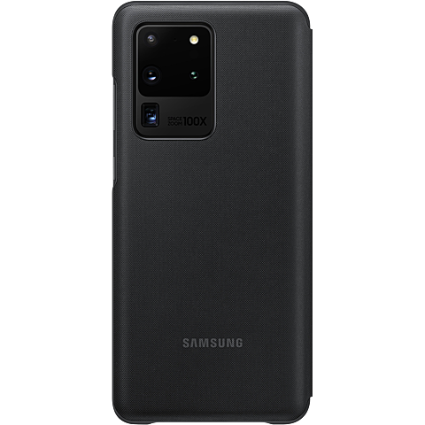 Samsung LED View Cover Galaxy S20 Ultra -Schwarz 99930460 hinten