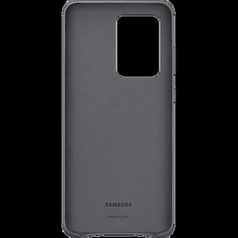 Samsung Leder Cover Galaxy S20 Ultra - Grau 99930461 hinten