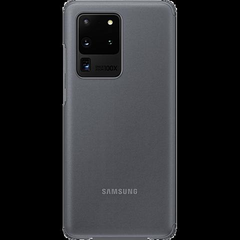 Samsung Clear View Cover Galaxy S20 Ultra - Grau 99930459 hinten
