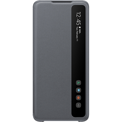 Samsung Clear View Cover Galaxy S20 Ultra - Grau 99930459 vorne