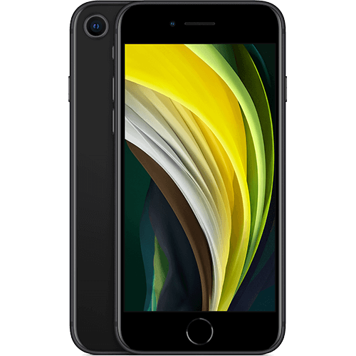 Apple iPhone SE (2. Gen) Schwarz Vorne und Hinten