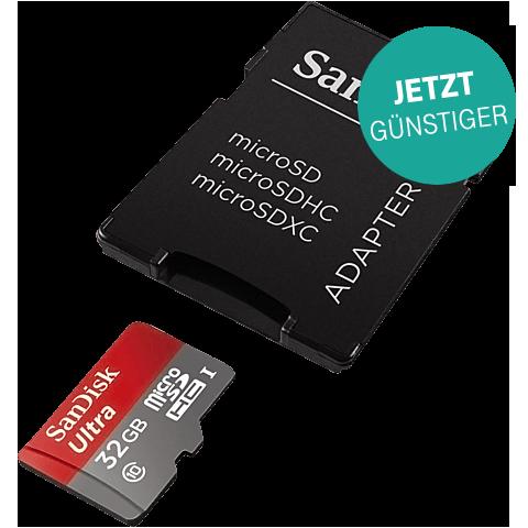 SanDisk microSDHC Card Ultra 32 GB + SD-Adapter 99926287 vorne