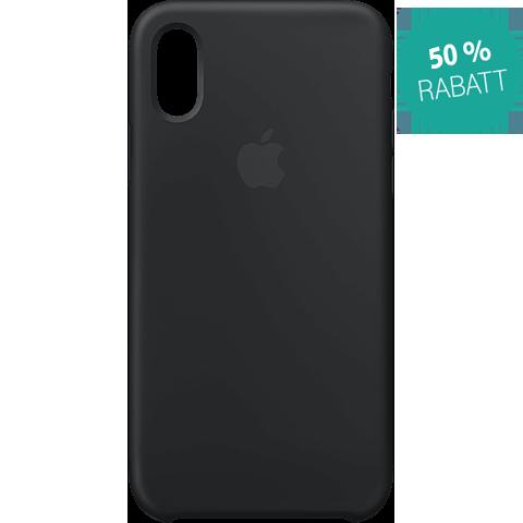 Apple Silikon Case iPhone XS - Schwarz 99928438 vorne