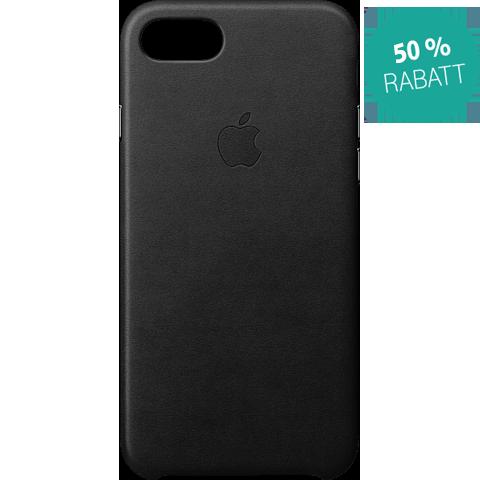 Apple Leder Case iPhone 8 Schwarz 99927265 vorne
