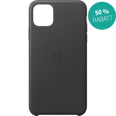 Apple Leder Case iPhone 11 Pro Max - Schwarz 99929735 vorne