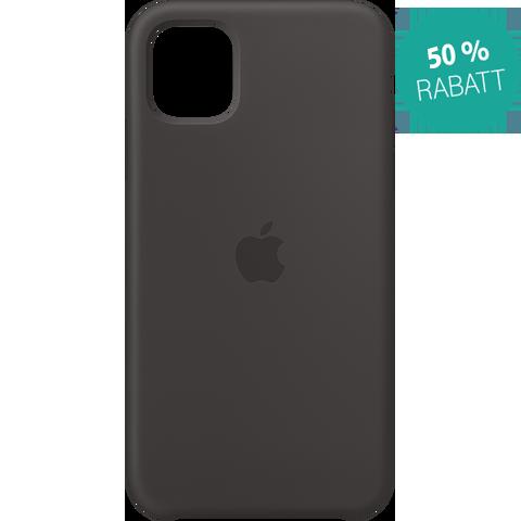 Apple Silikon Case iPhone 11 - Schwarz 99929823 vorne