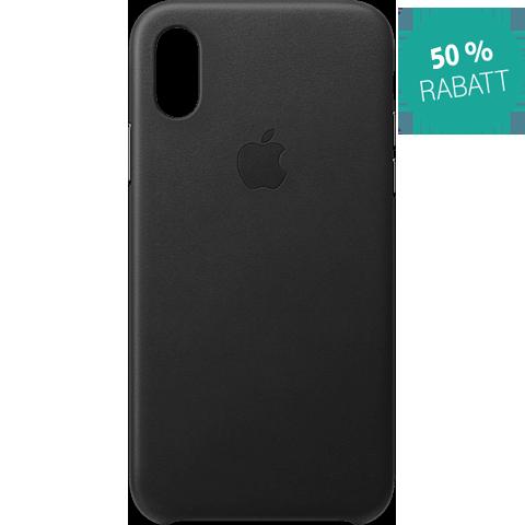 Apple Leder Case iPhone XS - Schwarz 99928443 vorne