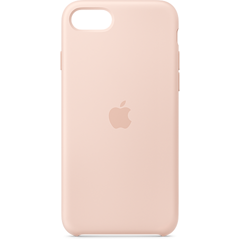 Apple Silikon Case iPhone SE - Sandrosa 99930786 vorne