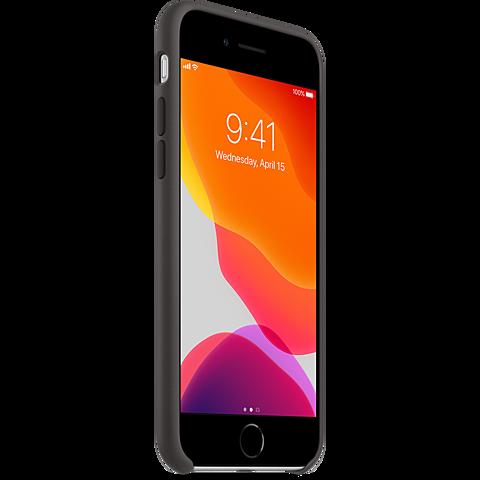 Apple Silikon Case iPhone SE - Schwarz 99930785 seitlich