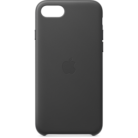 Apple Leder Case iPhone SE - Schwarz 99930789 vorne