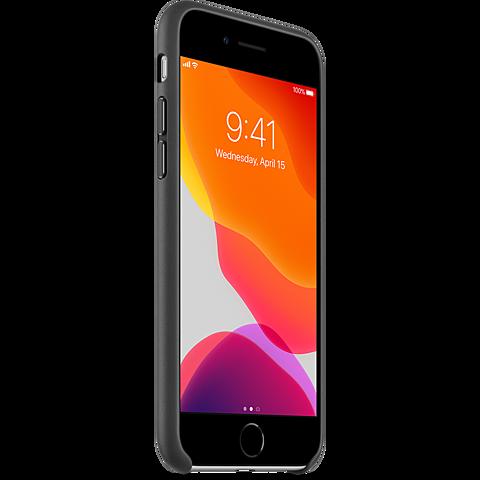 Apple Leder Case iPhone SE - Schwarz 99930789 seitlich