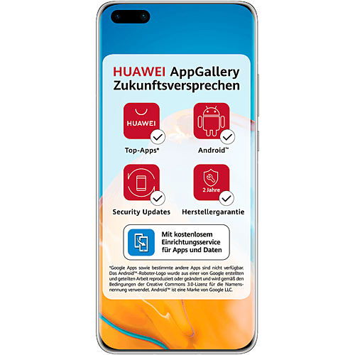 HUAWEI P40 Pro 5G Silver Frost Vorne