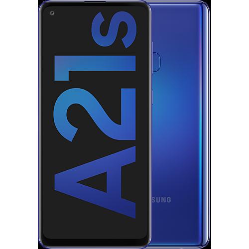 Samsung Galaxy A21s Blue Vorne und Hinten