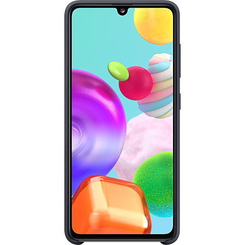 Samsung Silicone Cover Galaxy A41 - Schwarz 99930767 hinten