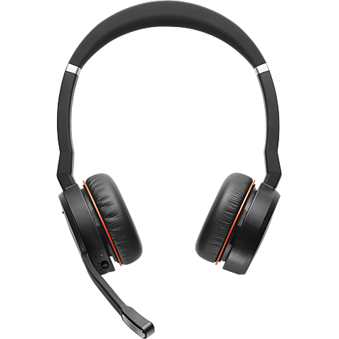 Jabra Evolve 75 Wireless On-Ear Bluetooth-Kopfhörer - Schwarz 99930827 hero