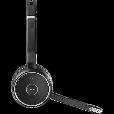 Jabra Evolve 75 Wireless On-Ear Bluetooth-Kopfhörer - Schwarz 99930827 seitlich