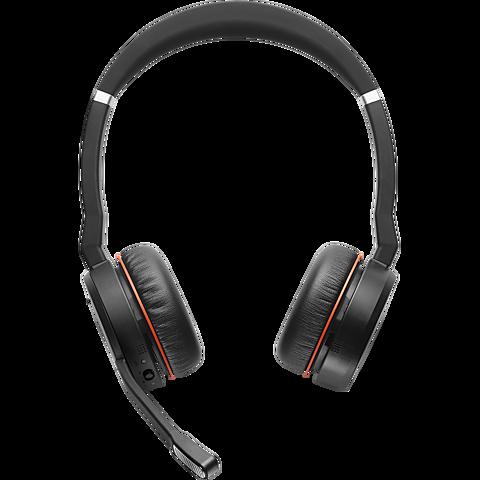 Jabra Evolve 75 Wireless On-Ear Bluetooth-Kopfhörer - Schwarz 99930827 vorne