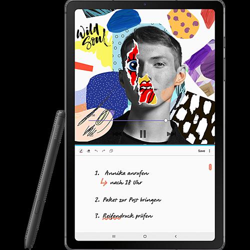 Samsung Galaxy Tab S6 Lite LTE Oxford Gray Vorne und Hinten