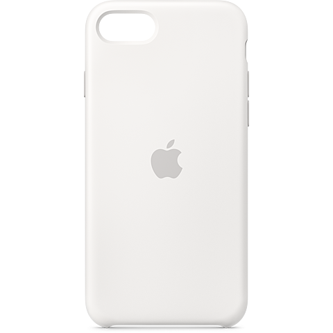 Apple Silikon Case iPhone SE - Weiß 99930787 vorne