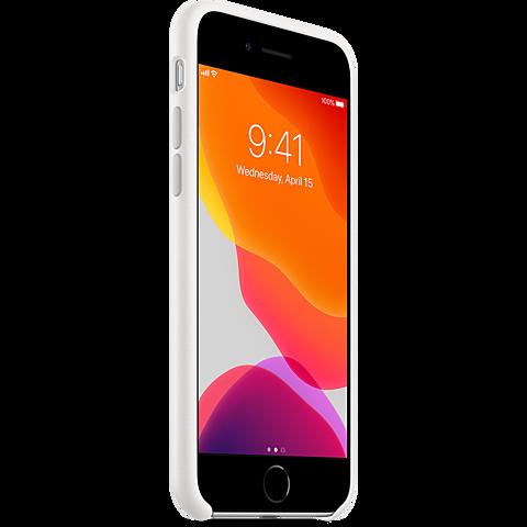 Apple Silikon Case iPhone SE - Weiß 99930787 seitlich