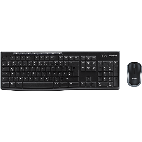 Logitech MK270 Wireless Tastatur-Maus-Set - Schwarz 99930831 hero