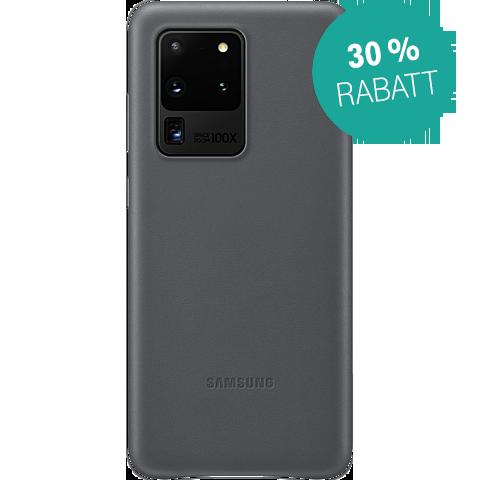 Samsung Leder Cover Galaxy S20 Ultra - Grau 99930461 vorne