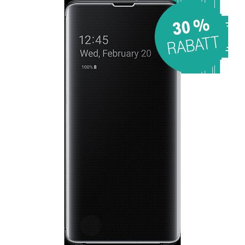 Samsung Clear View Cover Galaxy S10+ - Schwarz 99928906 vorne