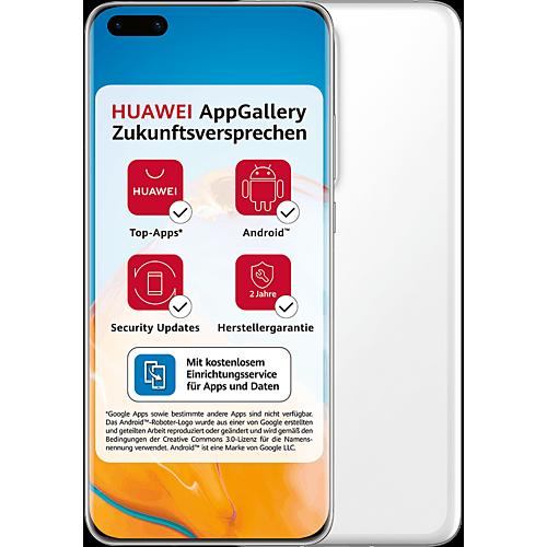 HUAWEI P40 Pro+ 512 GB Weiß #ffffff Vorne und Hinten