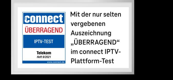 Magenta TV ist Connect Testsieger im Bereich IPTV