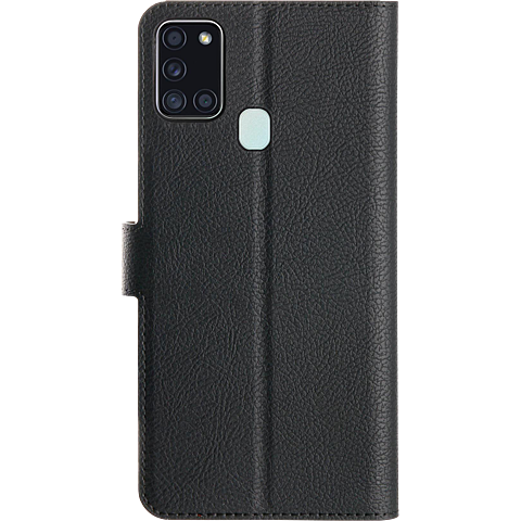 xqisit Slim Wallet Selection Samsung Galaxy A21s - Schwarz 99930887 hinten