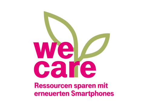 Mehr Magenta: We Care Logo