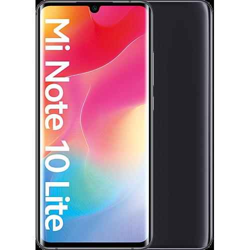 Xiaomi Mi Note 10 Lite Midnight Black Vorne und Hinten
