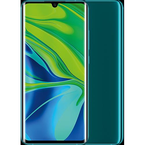 Xiaomi Mi Note 10 Pro Aurora Green Vorne und Hinten